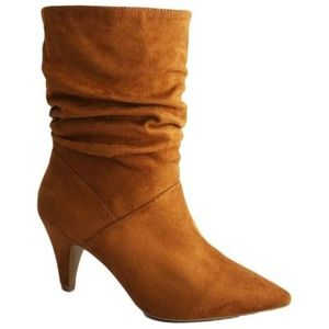 Shoes - ️5Ruffle Slouch Boots w/Kitten Heel 3 Colors